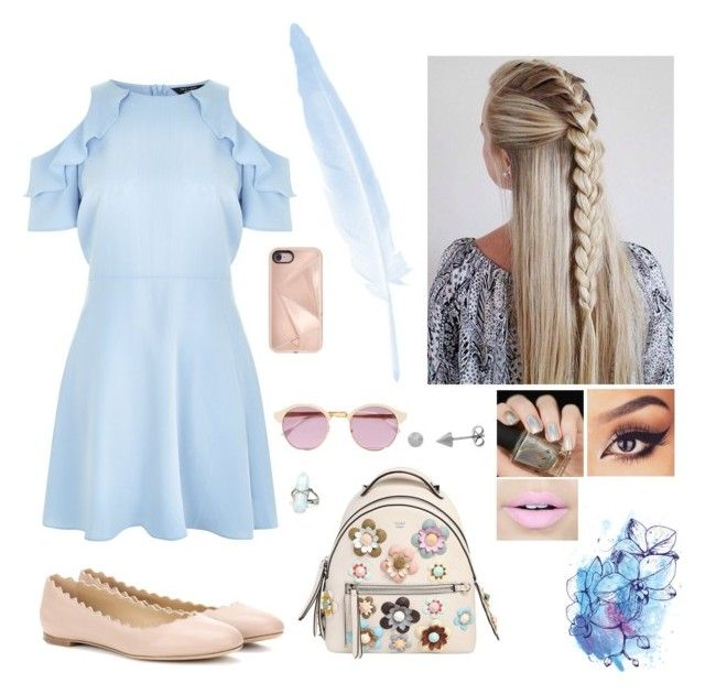 """""""Baby Blue and Cream."""" by gabby167 on Polyvore featuring New Look, Chloé, Fendi, Sheriff&Cherry, Rebecca Minkoff and Fiebiger"""