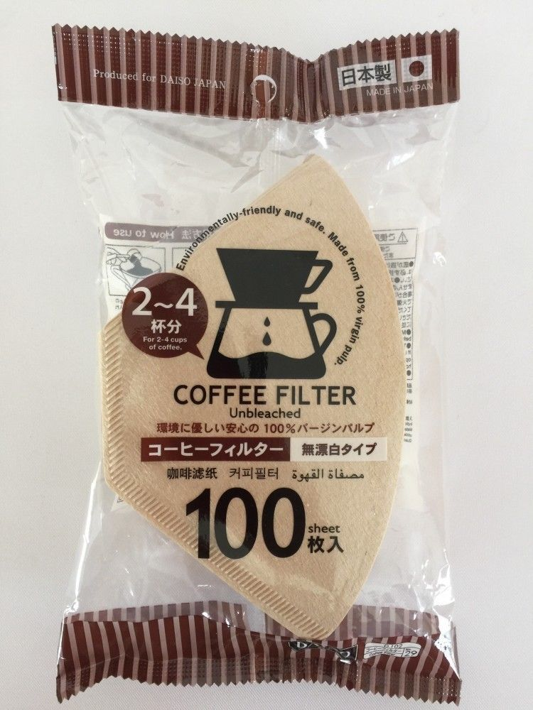 Daiso Coffee Filter Paper For 2-4 cups coffee 100pcs Unbleached Made in Japan #DAISOJAPAN