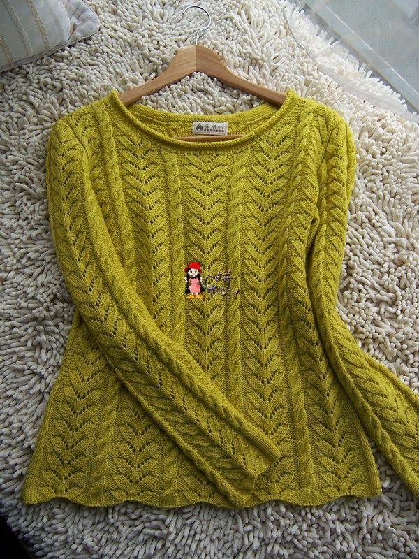 编织天地: 柠檬套衫