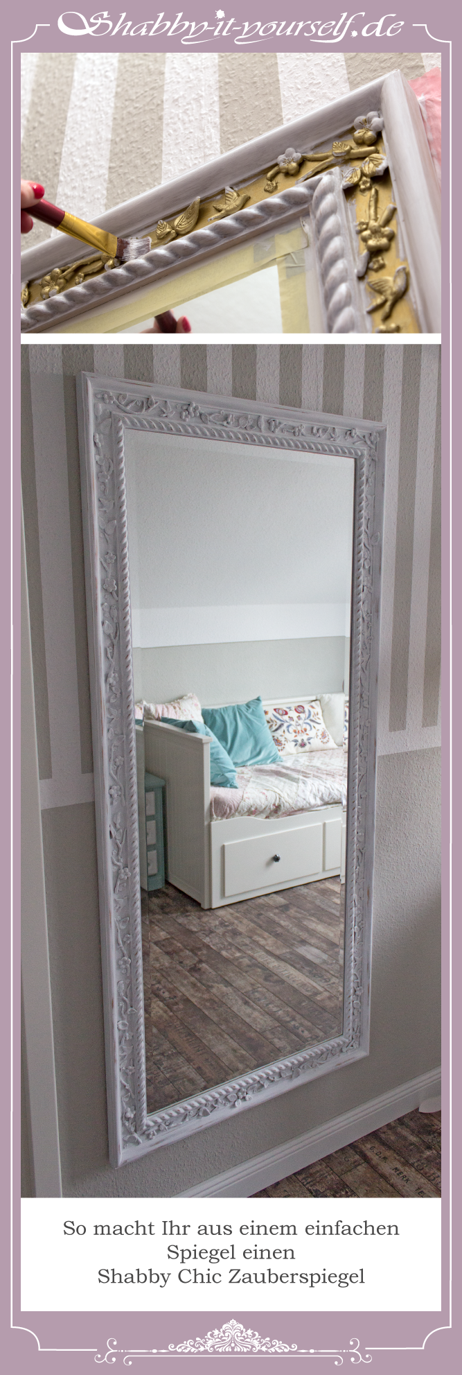 pin von shabby it yourself auf siy spiegel mirror spiegel wei romantisches shabby chic und. Black Bedroom Furniture Sets. Home Design Ideas