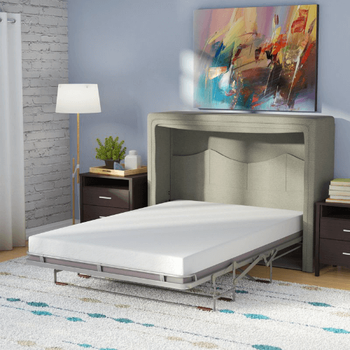 Sue Full Double Upholstered Murphy Bed With Mattress Lrun2193 Wffs