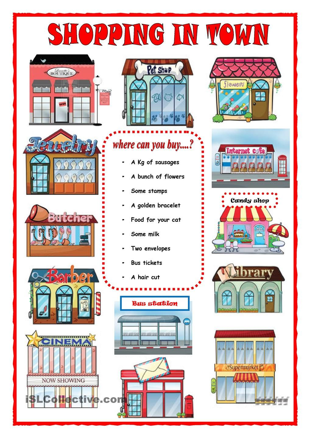 worksheet Shopping Worksheets shopping in town functional reading pinterest english town