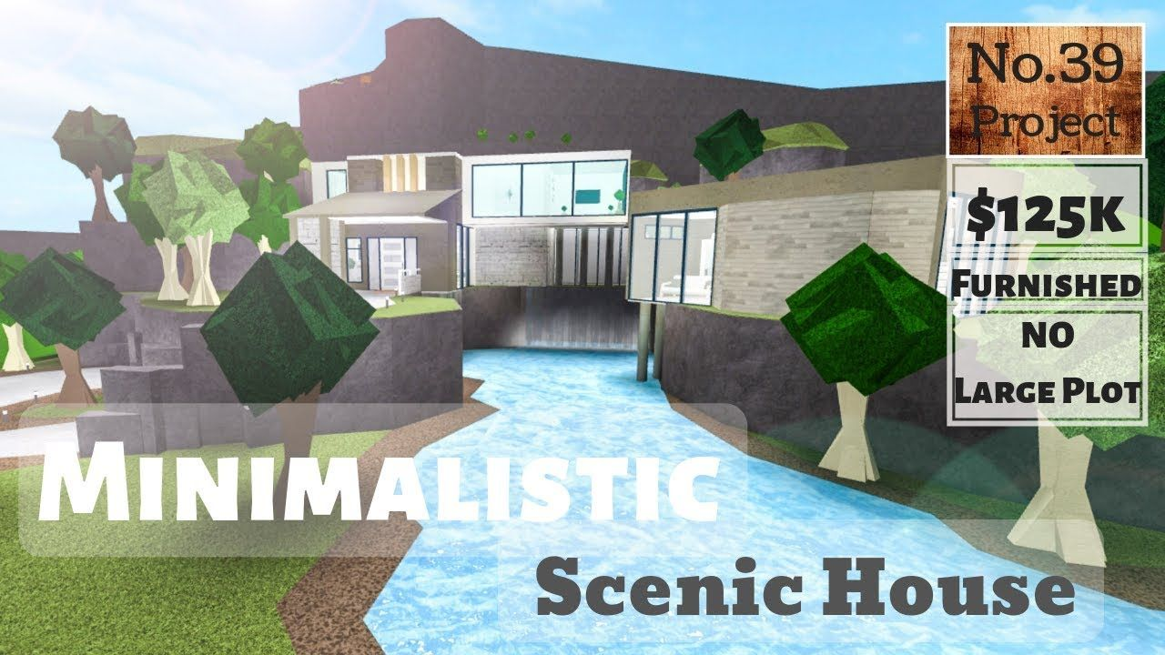 Games Like Bloxburg On Roblox But Free Roblox Bloxburg Minimalistic Scenic House Speedbuild No Large Plot House Blueprints Hillside House Roblox