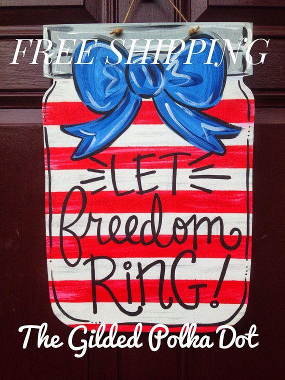 July 4th Door Hanger Free Shipping 4th Of July Door