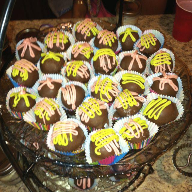 Chocolate covered cake balls