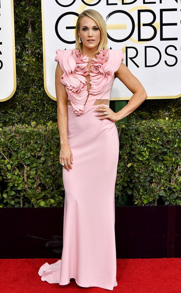 2017 Golden Globes Red Carpet Arrivals Carrie Underwood, 2017 Golden ...