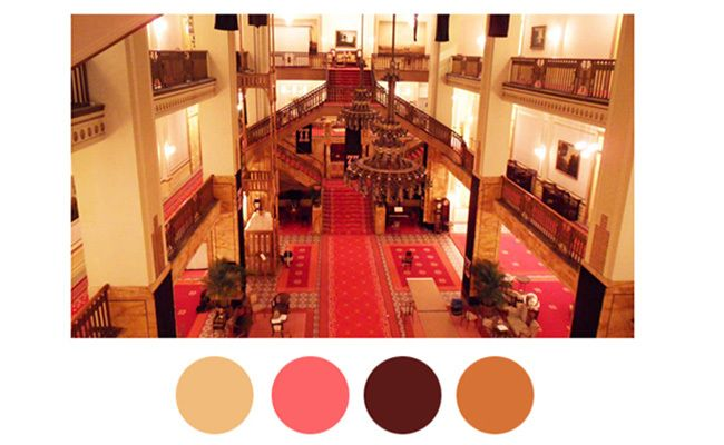 Wes Anderson movie color palette inspiration #color #decor
