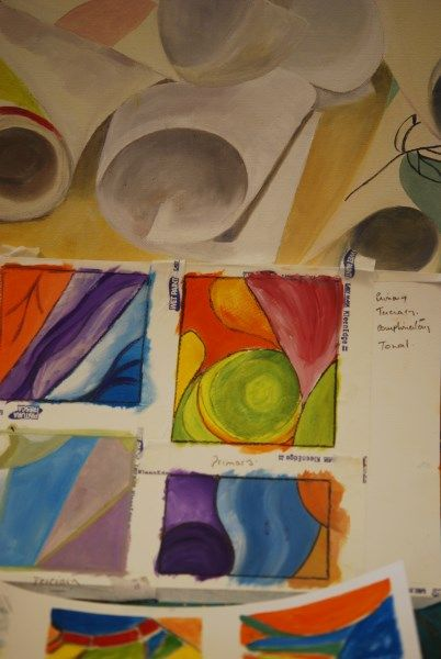 Adult abstract art at Faux Arts, Pewsey, Wiltshire
