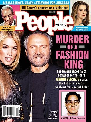 photo | Death, Famous Family Tragedies, Murder, Untimely Deaths, Celebrity Murders, Cindy Crawford Cover, Gianni Versace Cover, Gripping Ne...