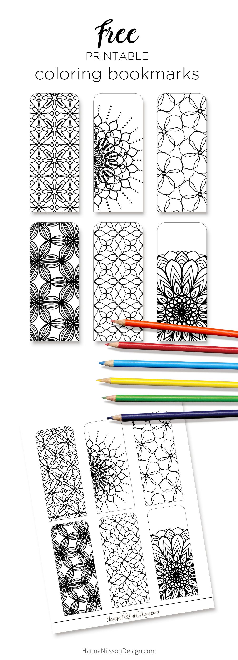 Coloring bookmarks print color