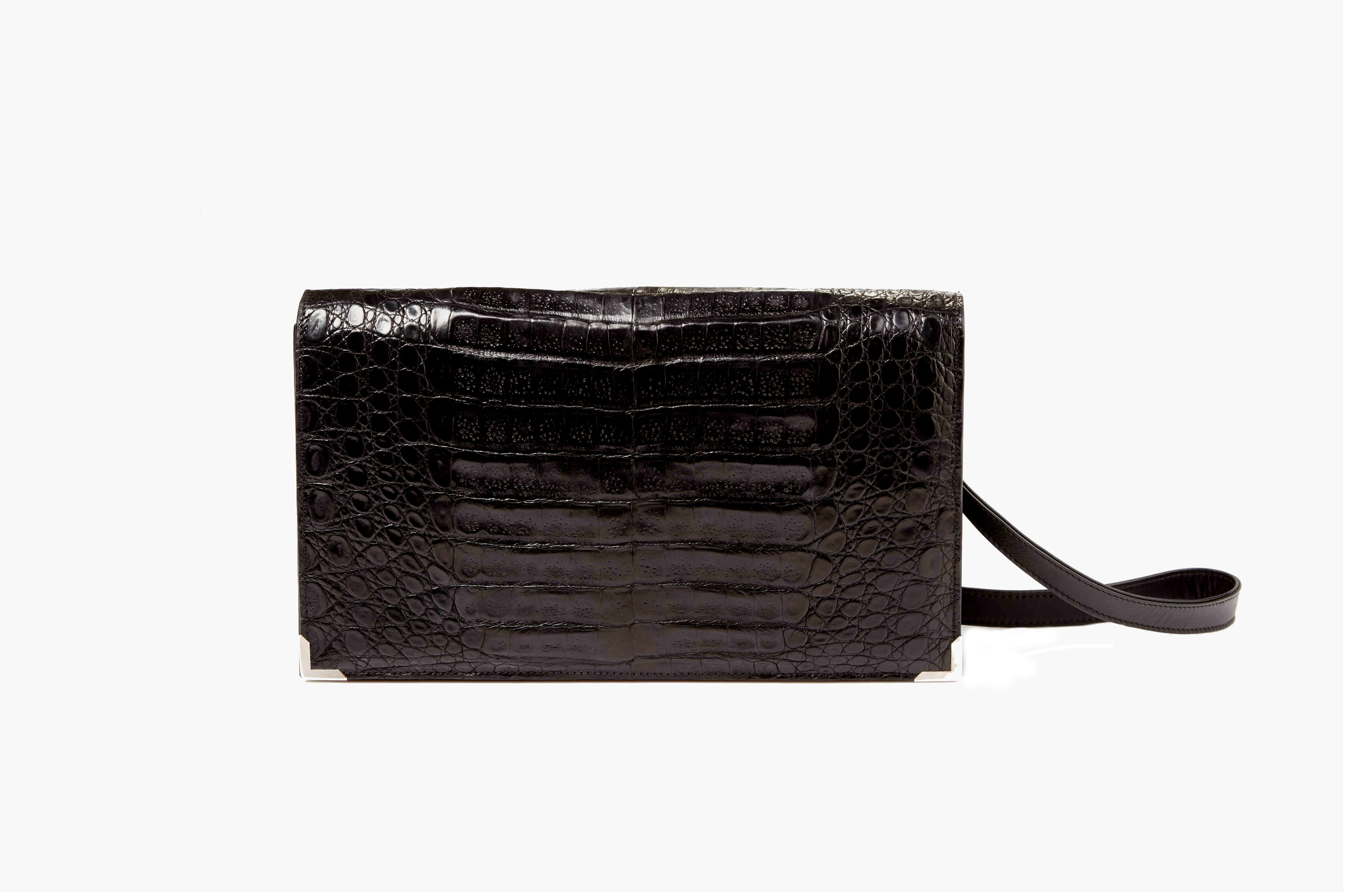 L Aristocrate Shoulder Bag Made With Real Crocodile Leather