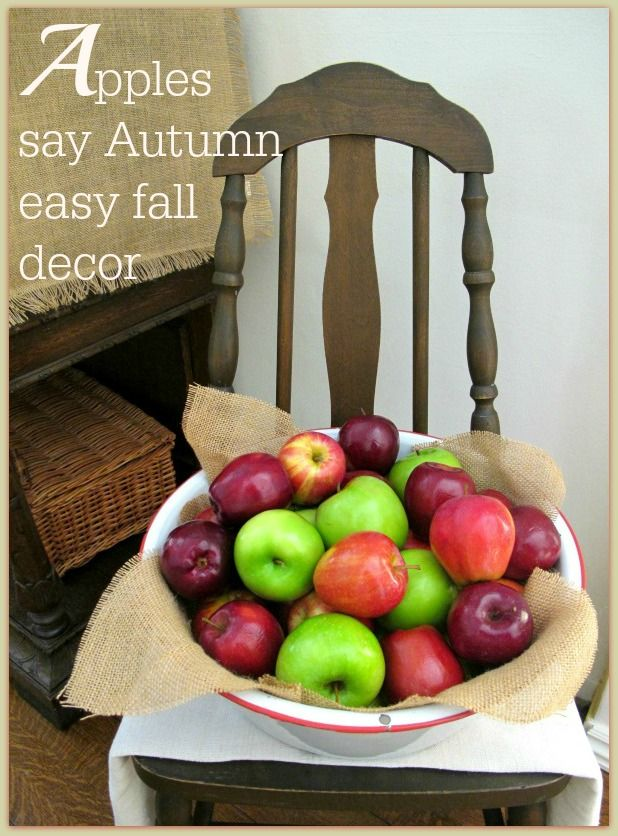 Apples an easy inexpensive way to decorate for Fall & Apples an easy inexpensive way to decorate for Fall | Decorating ...
