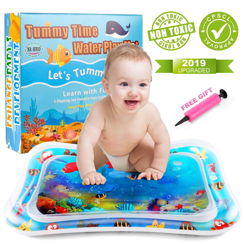 Nashrio Tummy Time Water Play Ma Infant Activities Water Play Mat Baby Development Activities