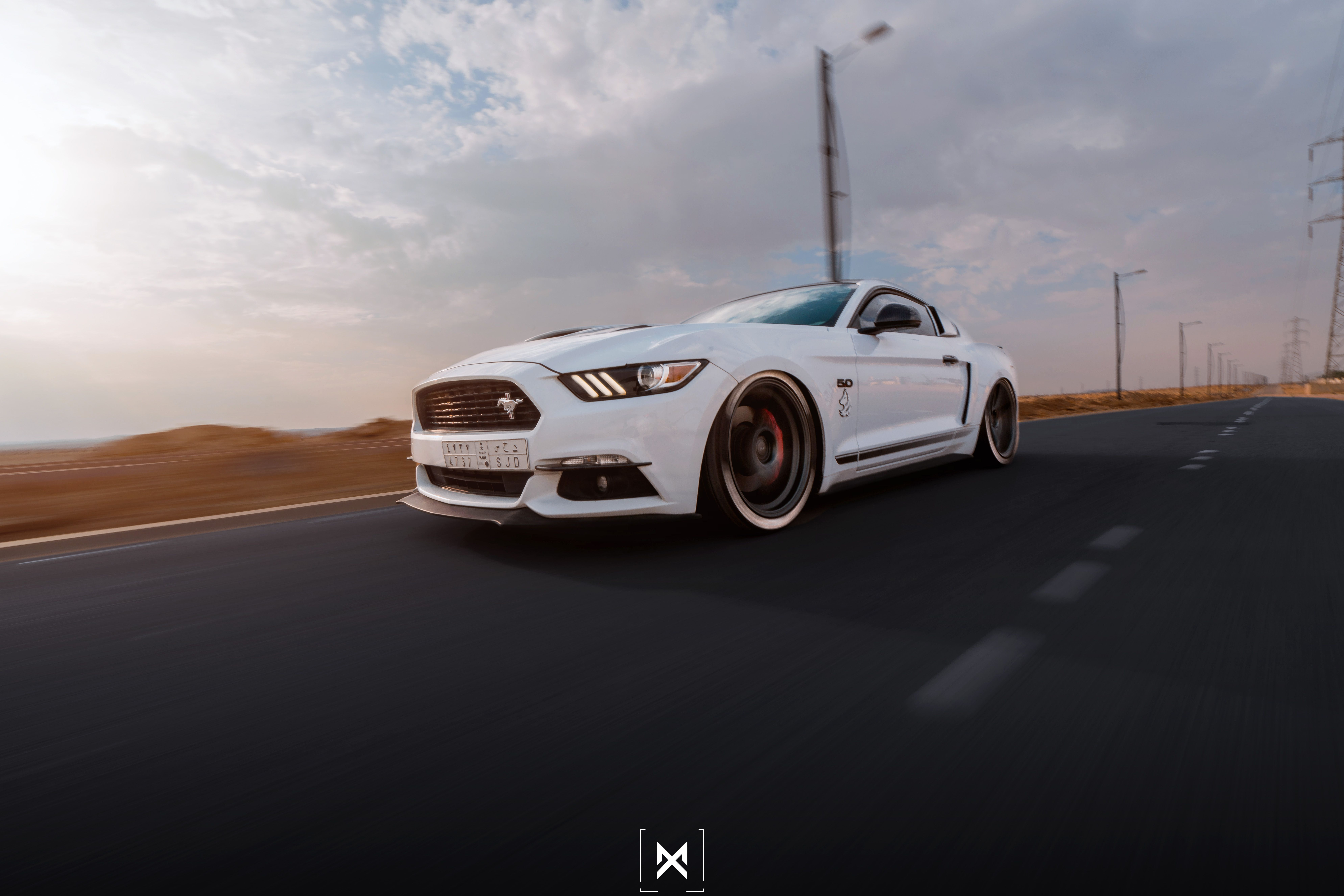 Sultan Hakeem With A Beautiful Mustang All The Way Over In Saudi Arabia Mustang 2015 Mustang