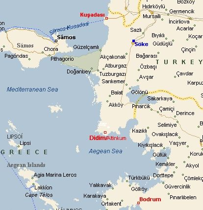 This is where Altinkum Didim is on the Aegean coast of south west