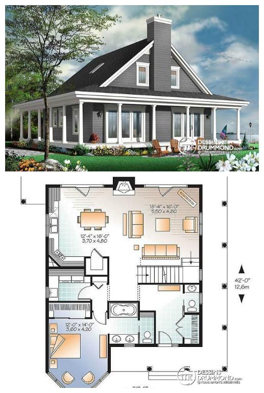 Vous êtes à La Recherche Du0027un Modèle Style Moderne Rustique Idéal Pour  Votre Grande Famille ? Découvrez Ce Nouveau Plan De Maison Proposant Une  Grande Suite ...