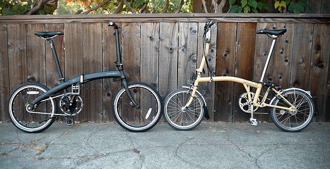 Gear Gallery Dahon Vs Brompton A Folding Bike Comparison With