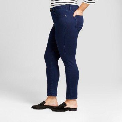 6550eed5b8988 Women s Plus Size Jeggings - Ava   Viv Dark Wash 14W