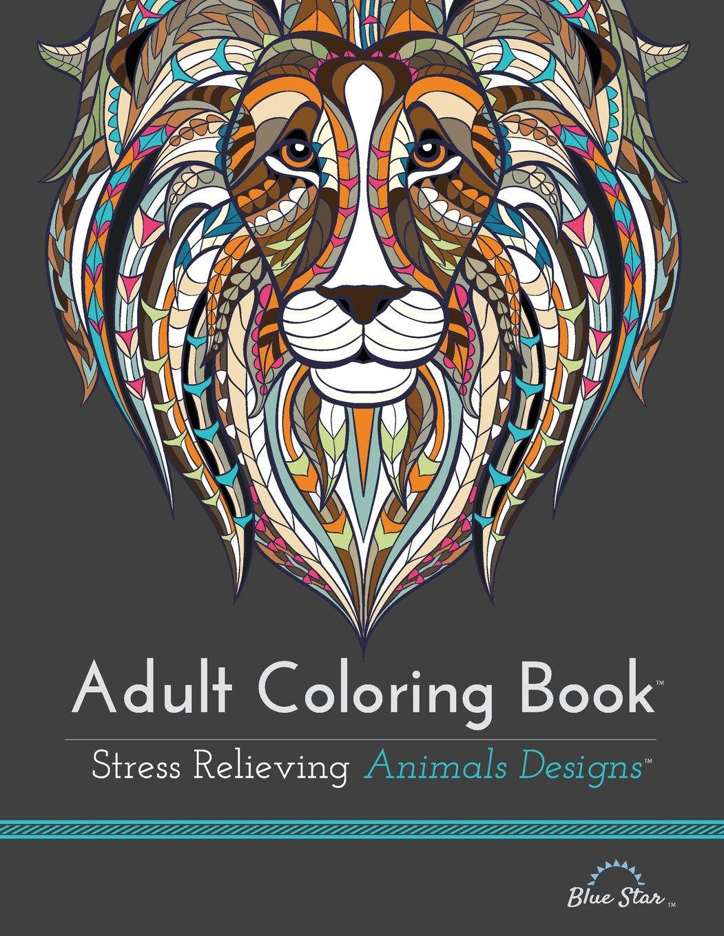 Adult Coloring Book: Stress Relieving Animal Designs: Blue Star Coloring: 9781941325117: Amazon.com: Books