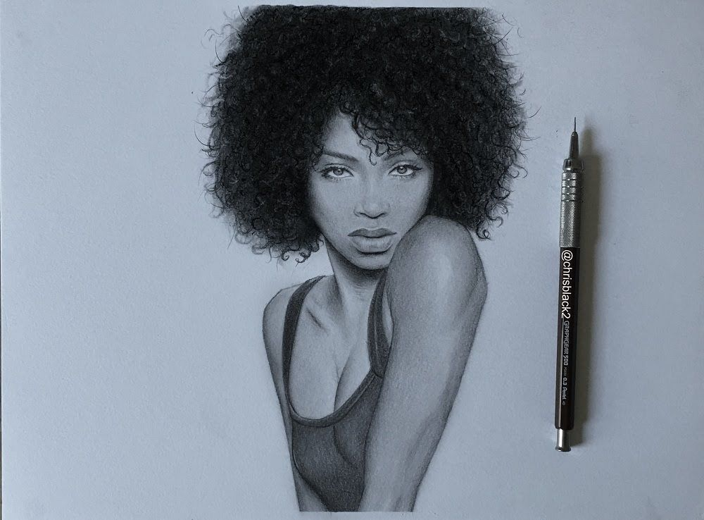 Drawing A Girl With Curly Hair Afro Hair Drawing Drawing Male Hair Curly Girl Hairstyles
