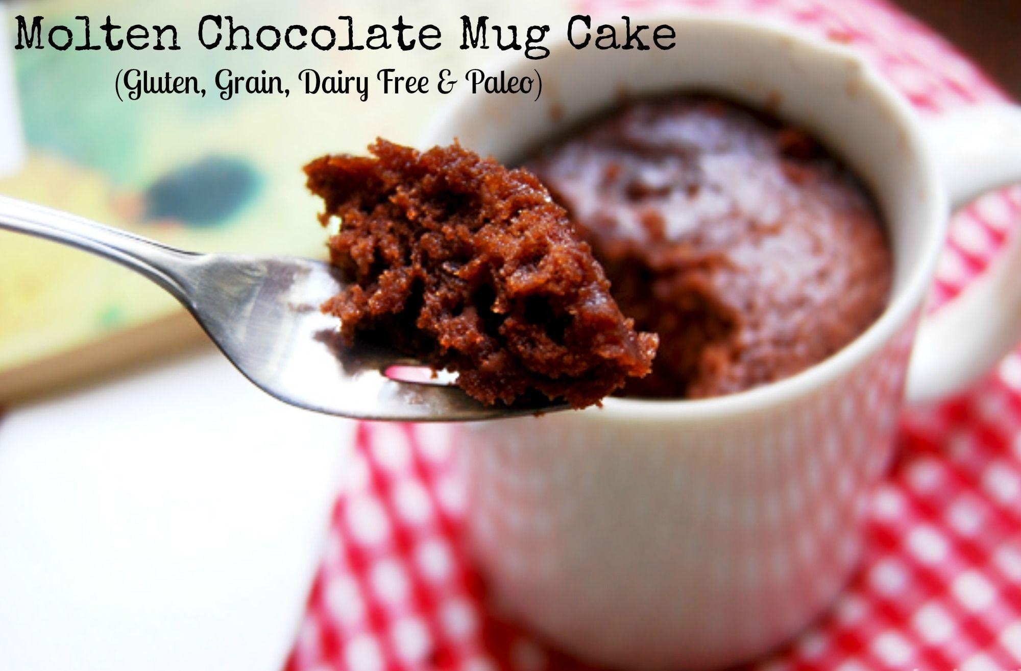 Realizing Vitality:  Molten Chocolate Mug Cake (Gluten, Grain, Dairy Free & Paleo)