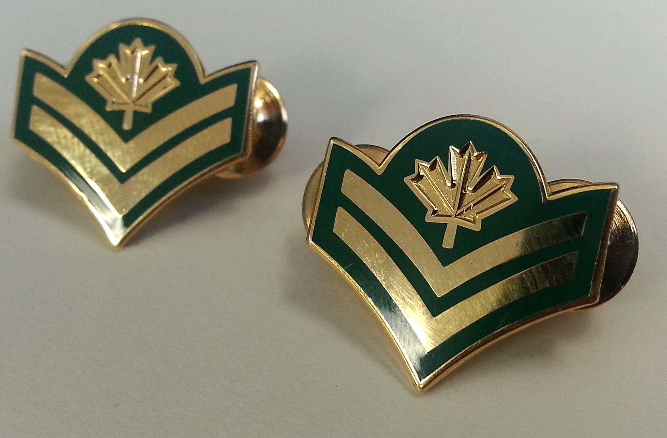 Master corporal rank insignias from the canadian army dress uniform
