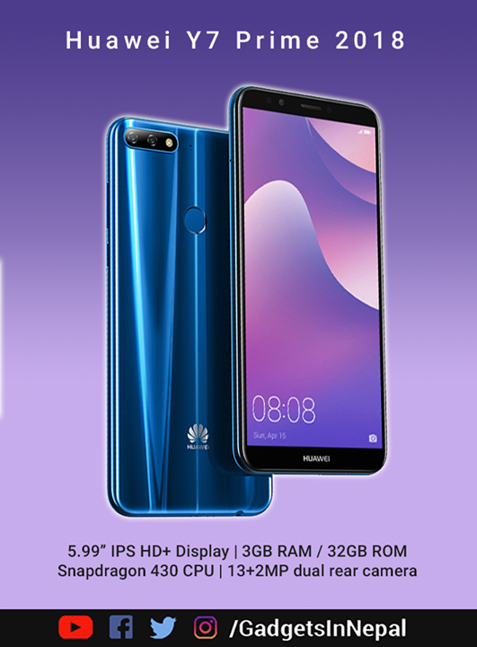 This is Huawei Y7 Prime 2018 Specs: ✔️5 99 inch IPS display with