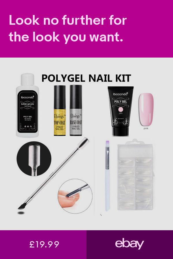 Poly Gel Nail Kit Pink 30g Set False Nails Acrylic Diy Quick Building Acrygel Nail Kit Gel Nails Gel Nail Kit