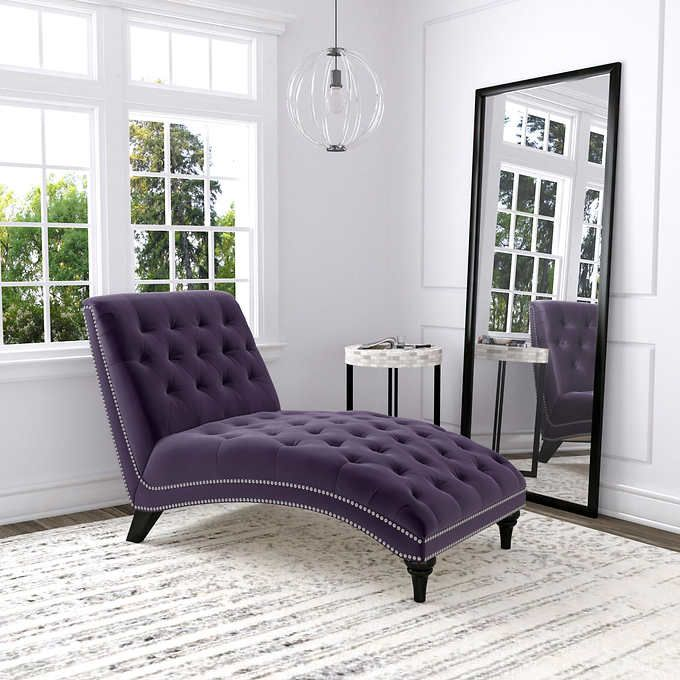 Ursula Fabric Chaise Lounge Purple 299 99 From Costco