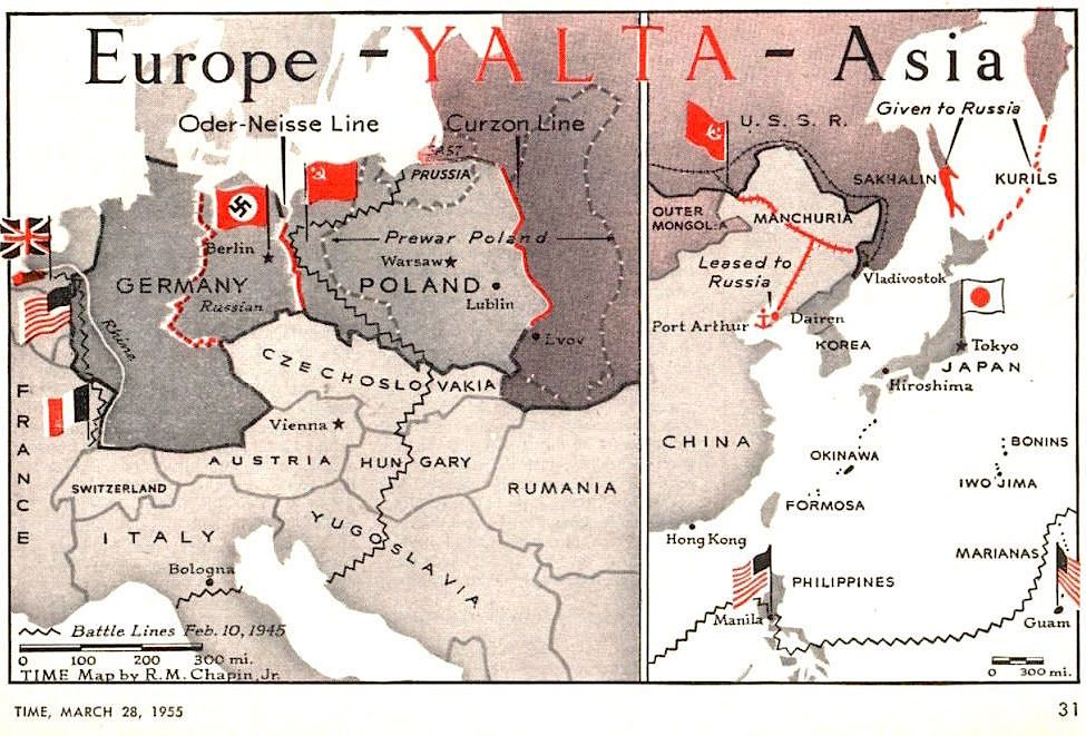 The Yalta Conference Agreements Europe And Asia Time 28 March 1955