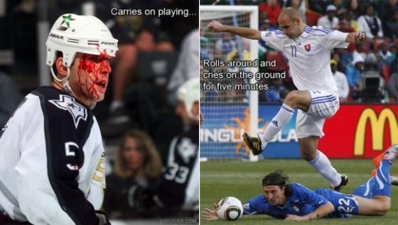 Hockey Jokes Hockey Vs Soccer Soccer Funny Hockey Humor Soccer