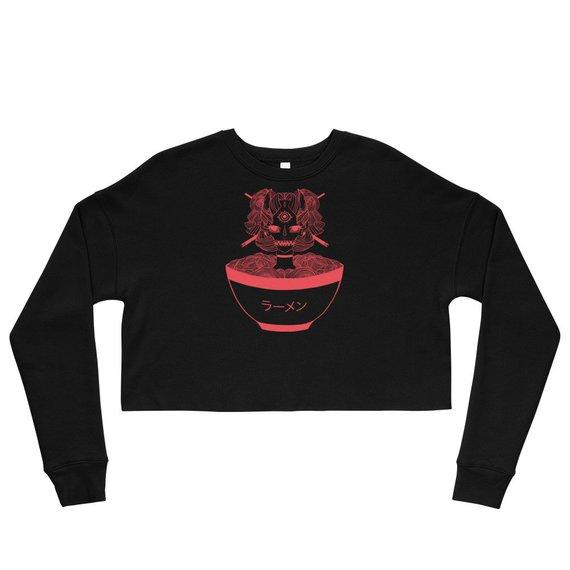 e3f553c982708 Anime Ramen Noodles Crop Top Sweatshirt, Monster Girl Sweater Shirt ...