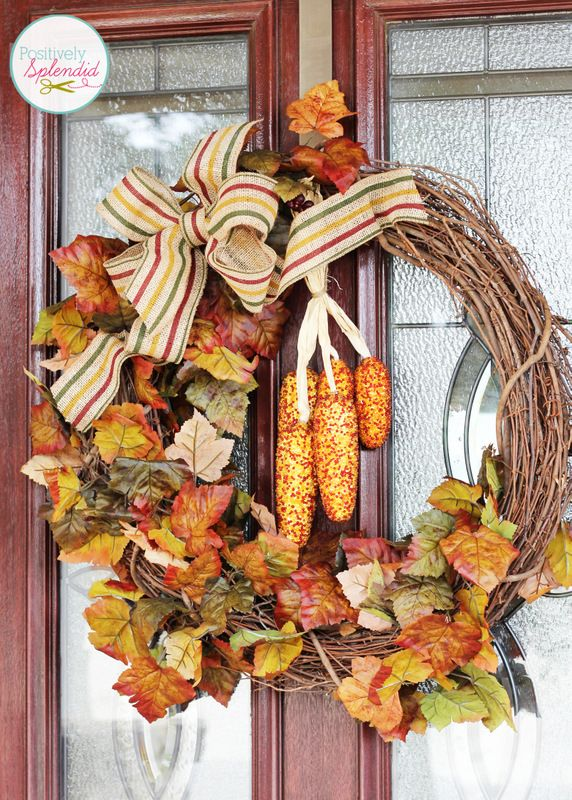 Outdoor Fall Decorating Ideas Fall Leaf Wreaths Fall Outdoor Decor Fall Front Porch Decor