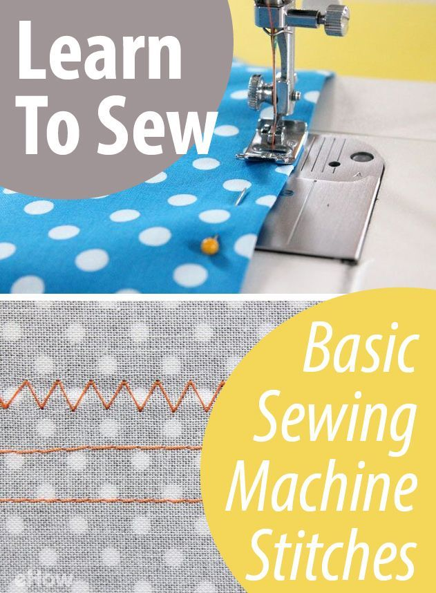 Learn to Sew: Basic Sewing Machine Stitches | eHow.com