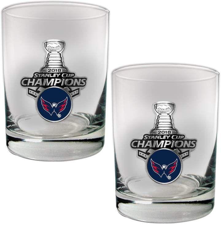 8c1af49eca7 Washington Capitals 2018 Stanley Cup Champions Rocks Glass Set  glass rocks  Capitals