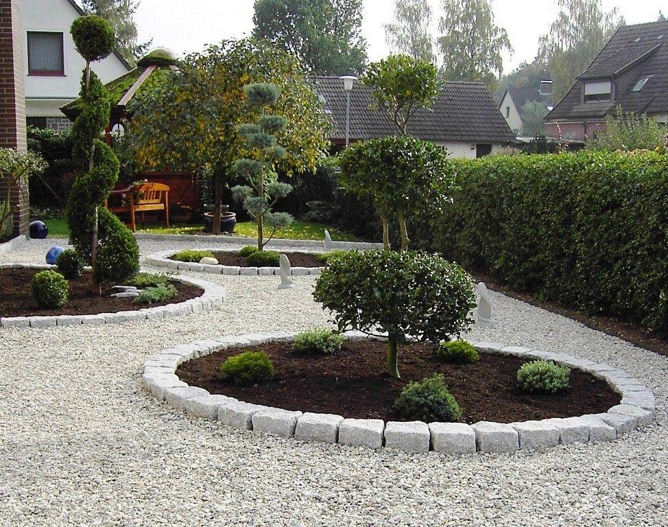 vorgarten gestalten mit kies und grasern \u2013 flashzoom, Best garten - vorgarten gestalten mit kies und grasern