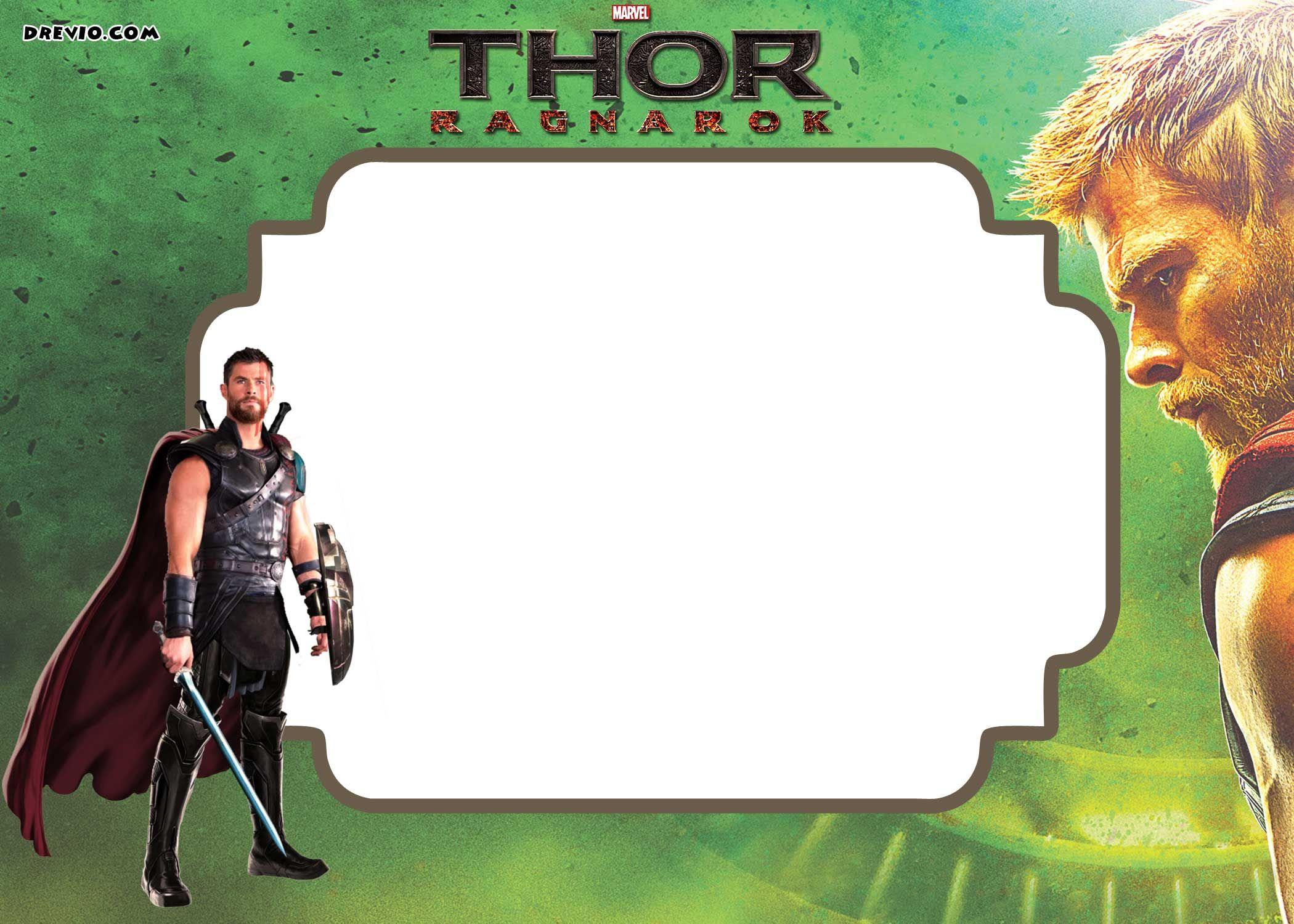 FREE Printable Thor Ragnarok Invitation Template | Drevio Invitations Design