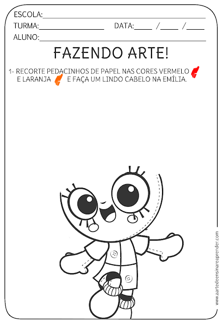 Atividade pronta - Livro infantil, fazendo arte | ei | Pinterest ...