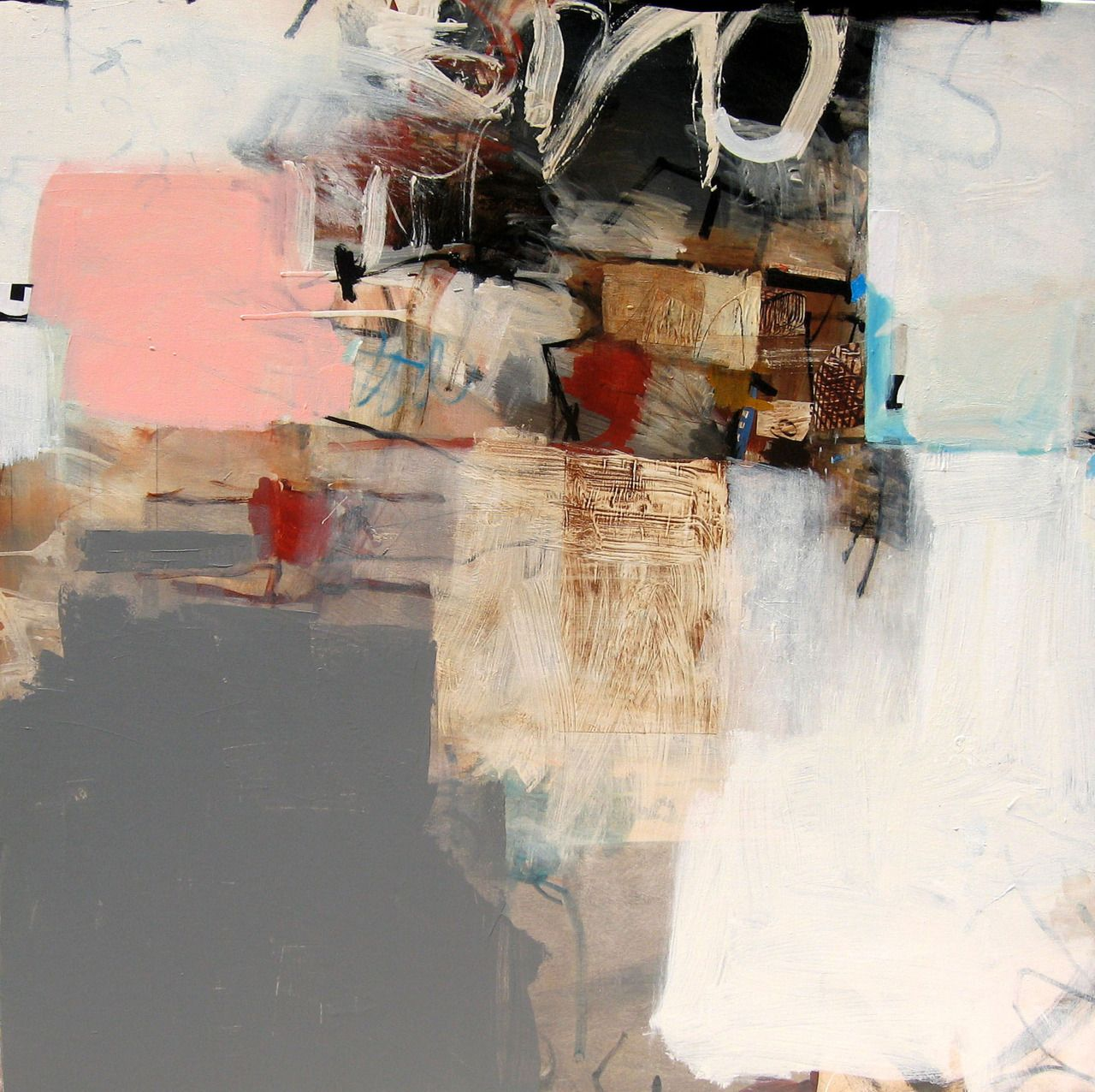 """Charlotte Foust, """"Barricade"""", acrylic on canvas - This is beautiful!"""