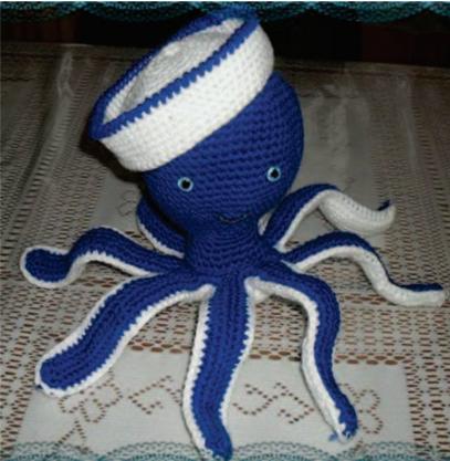Patrón gratis amigurumi de pulpo marinero | Tejido crochet ...