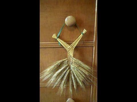 Wheat Weaving Tutorial: Welsh Fan - YouTube