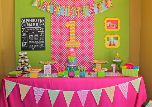 Chevron Polka Dots Birthday Brooklyn S First Birthday Bash Catch My Party Polka Dot Birthday Party First Birthday Parties First Birthdays