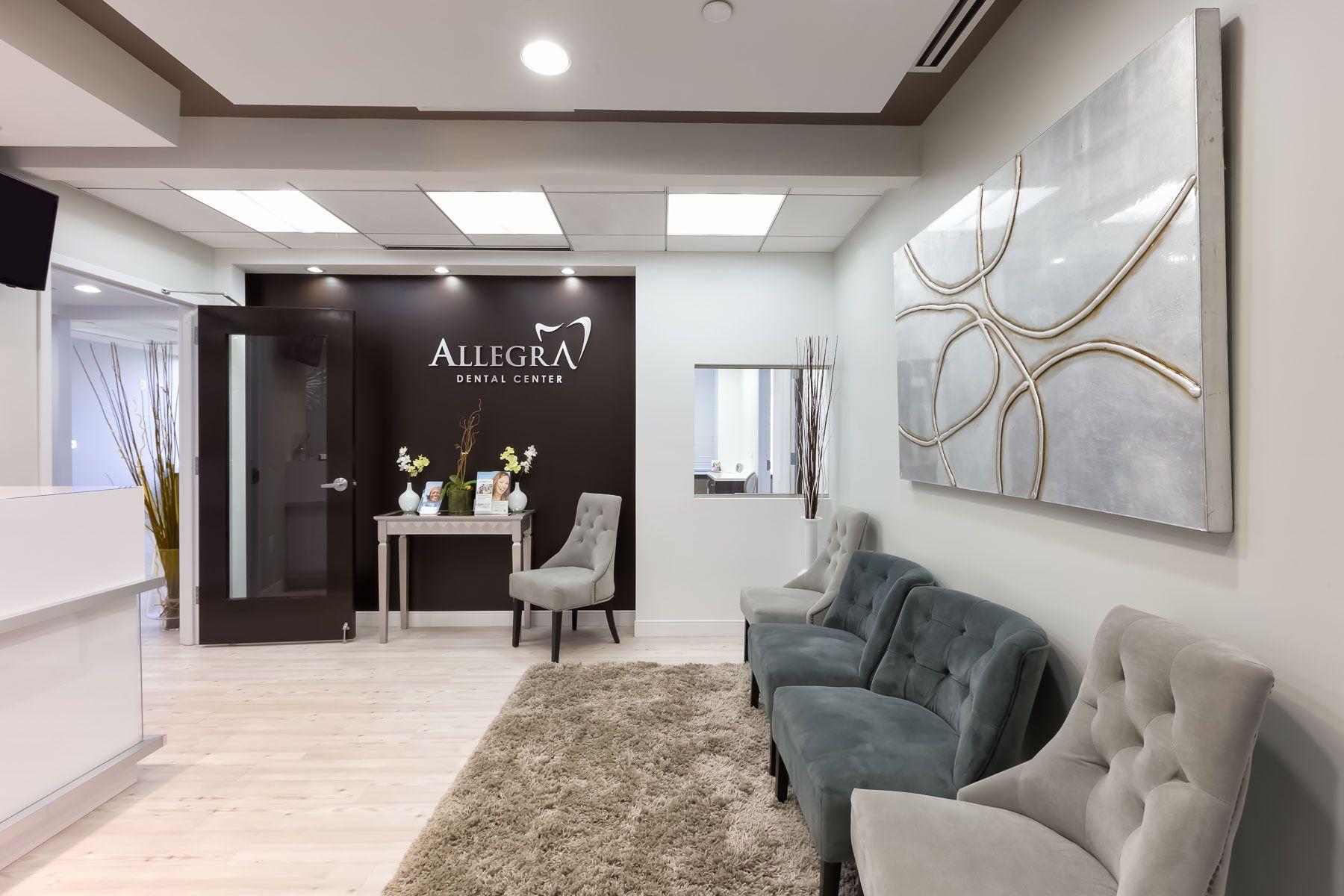 Allegra Dental Center Architecture Design And Construction In Fairfax Virginia Reception Area