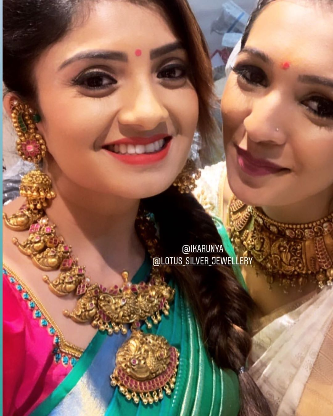 Lotus Silver Jewellery On Instagram Gorgeous Actress Ikarunya In Our Beau Bridal Jewelry Collection Gold Necklace Indian Bridal Jewelry Gold Jewelry Fashion