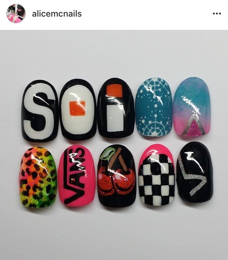 Nail designs created for Vans Europe | Nails design | Pinterest ...