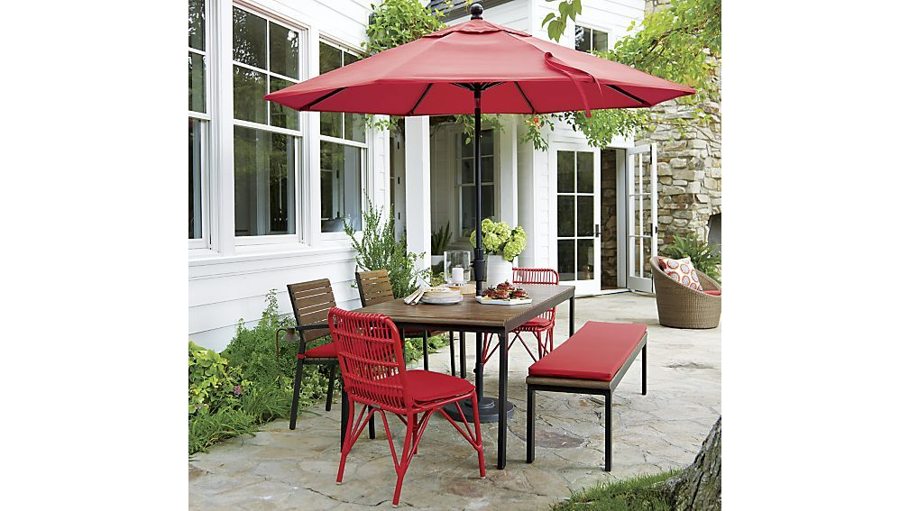 Good Kruger Ribbon Red Dining Chair With Sunbrella ® Ribbon Red Cushion