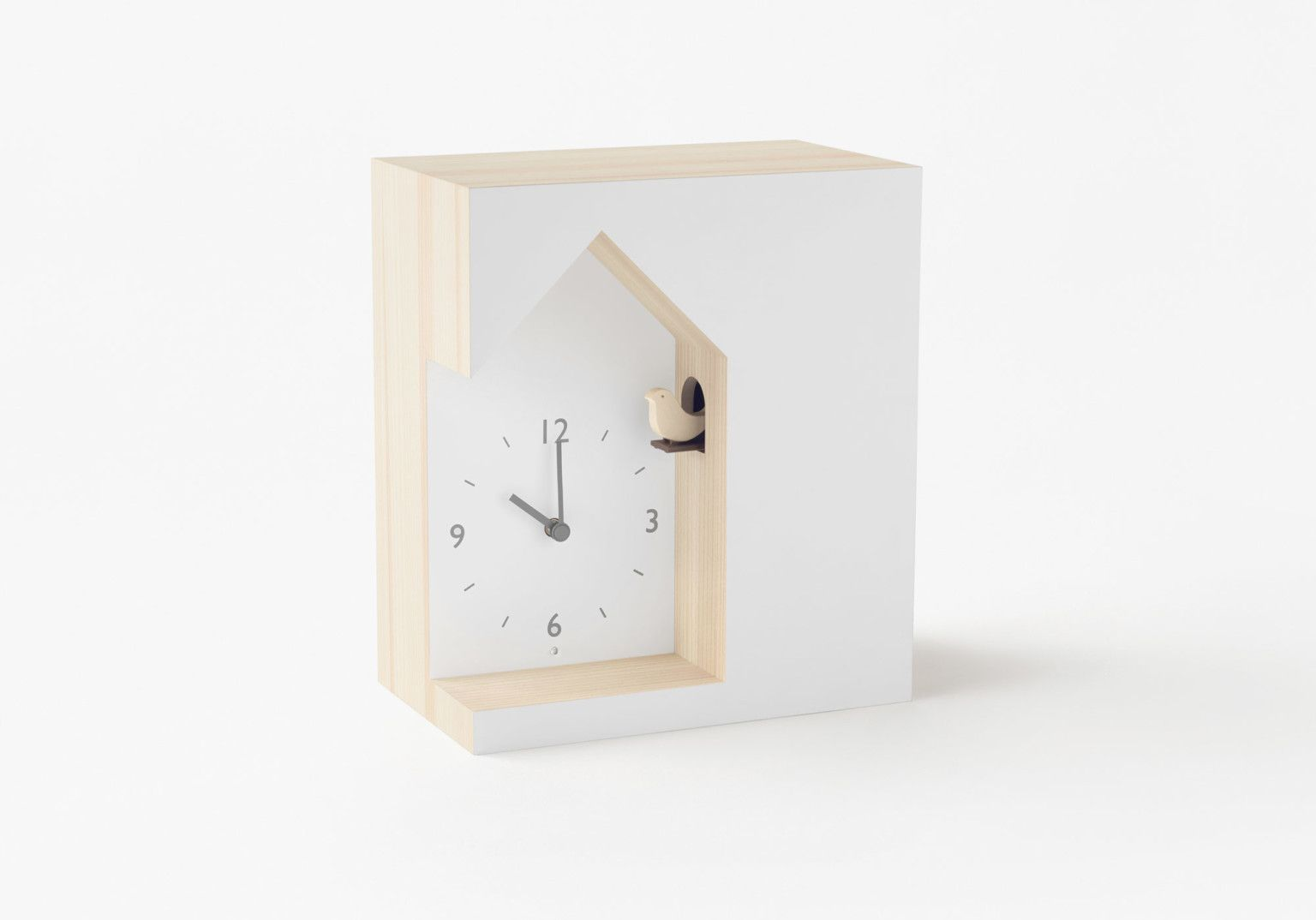 Japanese Design Studio Turns Traditional Cuckoo Clocks On Their Head With Three Minimal Designs Japanese Design Clock Cuckoo Clock