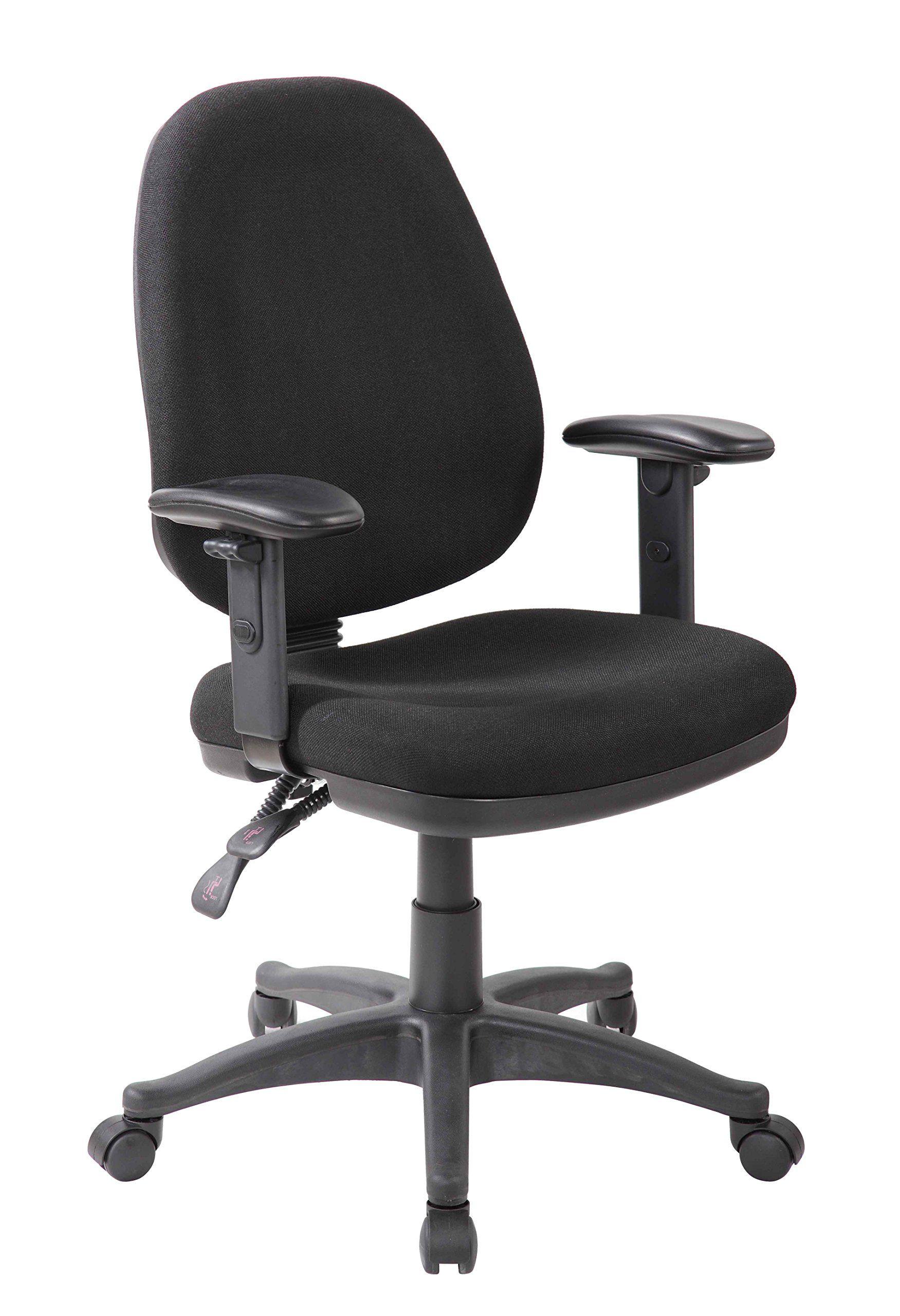 Eurosports Work Chair ES 1005 BK Ergonomic Works Drafting Chair With Arms ,Black