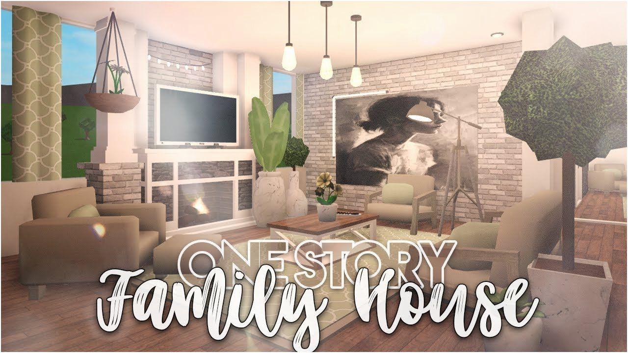 Bloxburg Houses 1 Floor In 2020 Modern House Floor Plans Family House Modern Family Rooms