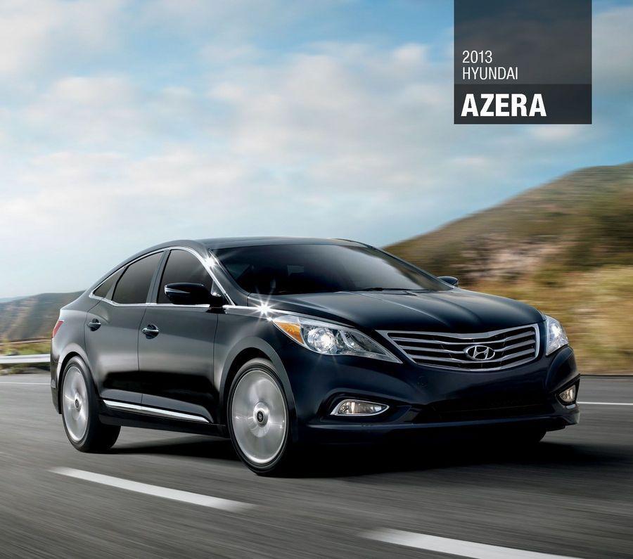 Check the 2013 Hyundai Azera EBrochure cars hyundai